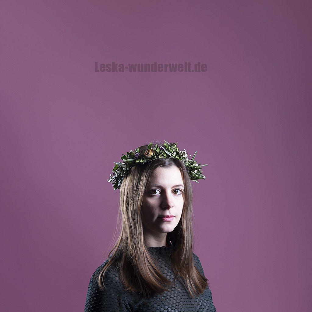 Frau, boho, Haarkranz, Portrait, Würzburg, Leska-Wunderwelt, Fotografin, Wuerzburg, Fotoshooting, Profie-
